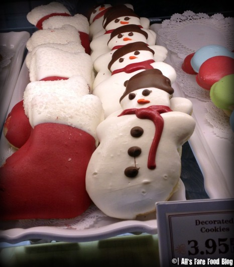 Snowman cookies from the Confectionary on Main Street
