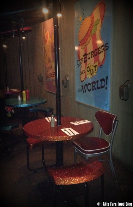 Picnic style seating at Sci-Fi Dine-in Theater