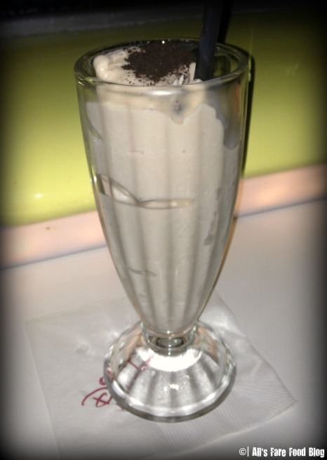 Milk shake at Sci-Fi Dine-in Theater