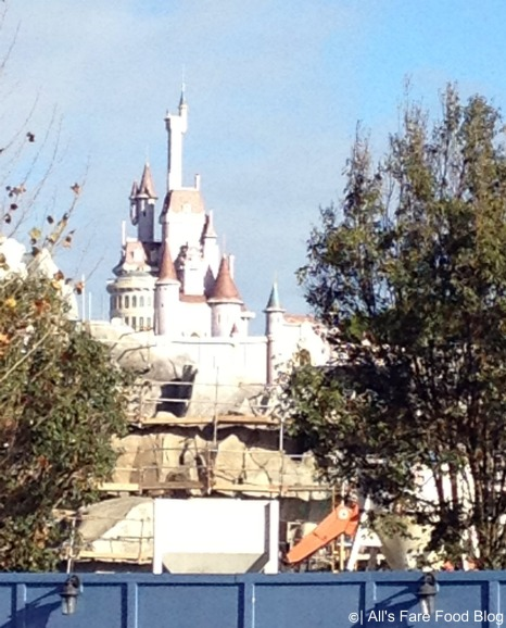 Beast's castle is taking shape at the new Fantasyland in Magic Kingdom