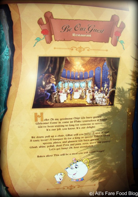 Be Our Guest restaurant opening later in 2012 at Magic Kingdom