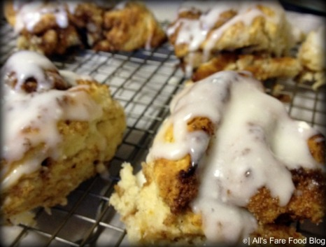 Quick cinnamon rolls with icing