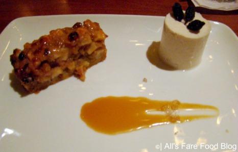 Winter panna cotta and apple tart