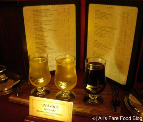 Canadian Beer Flight at Le Cellier