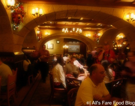 Seating area at Le Cellier