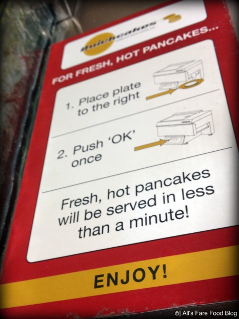 Instructions for the pancake maker