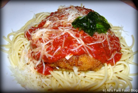 Chicken parmigiana at Tony's Town Square