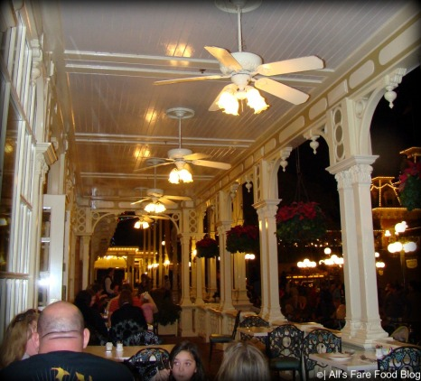 Patio at Tony's Town Square on Main Street USA