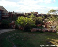 The savannah at Animal Kingdom Lodge
