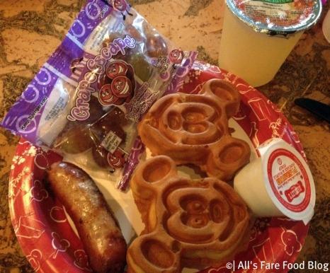 Kid's waffle breakfast at the Mara
