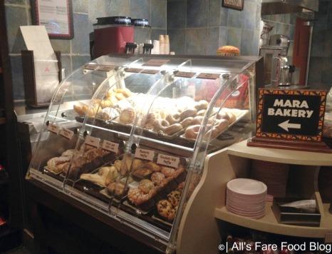 Bakery items at the Mara