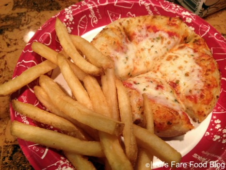 Kid's pizza meal with fries