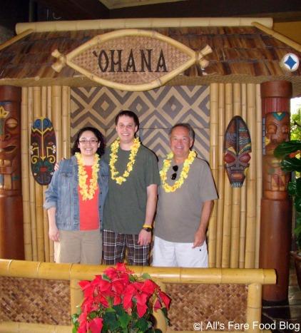 Family picture at Disney's 'Ohana