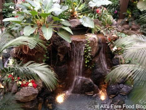 Waterfall in Polynesian lobby