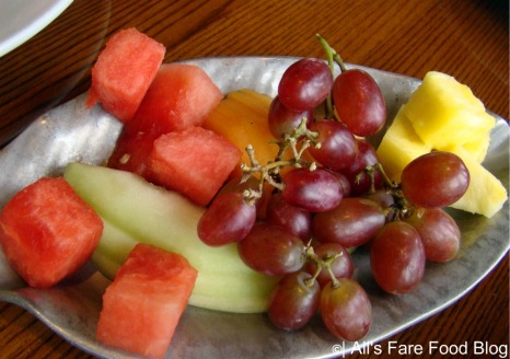 Fruit plate at Disney's 'Ohana