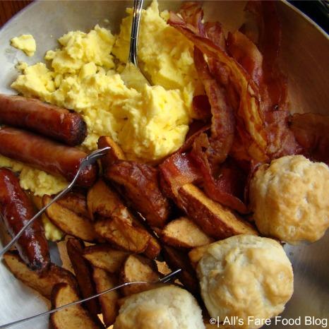 Family-style breakfast platter at Disney's 'Ohana