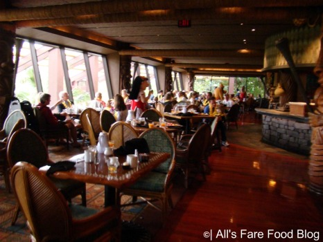 Seating at Disney's Ohana