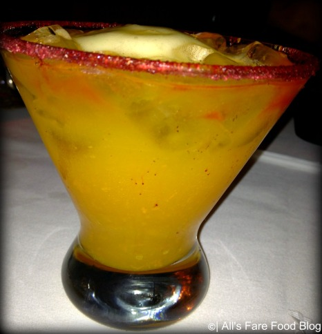 Passion fruit margarita at Epcot's San Angel Inn