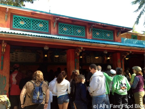 Line at Flame Tree Barbecue at Disney's Animal Kingdom