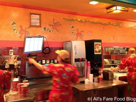 Ordering at Flame Tree Barbecue at Animal Kingdom Park