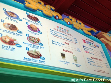 Menu at Flame Tree Barbecue