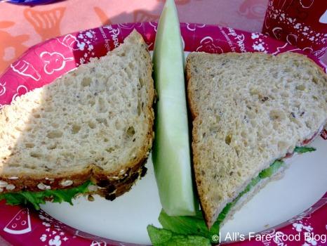 Turkey club sandwich at Flame Tree Barbecue