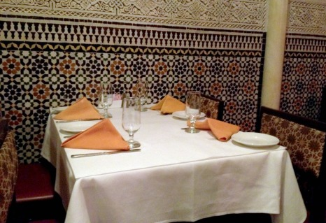 Table at Restaurant Marrakesh