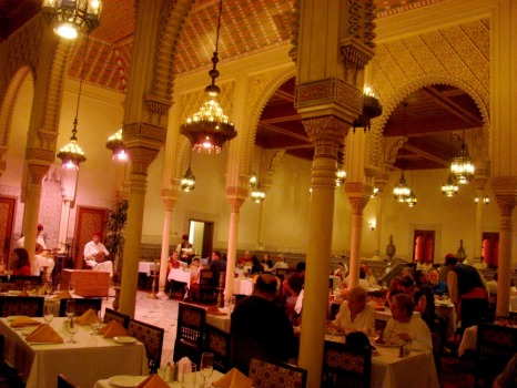 Dining room is sprawling at Restaurant Marrakesh