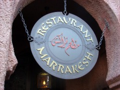 Restaurant Marrakesh signage
