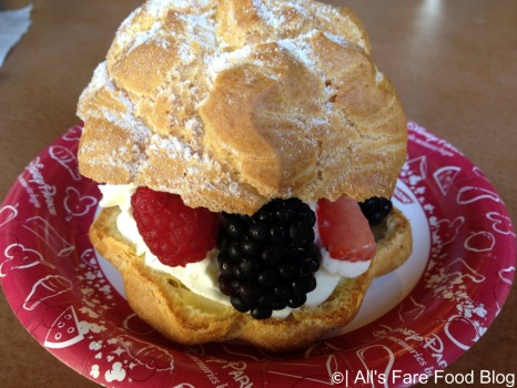 Cream puff with fruit at Kringla Bakeri og Cafe at Epcot
