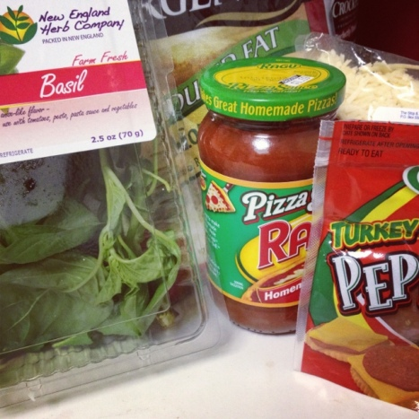Ingredients for Cauliflower Crust Pizza