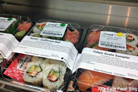 Sushi choices at Sunshine Seasons, Epcot