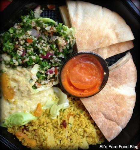 Hummus, tabulleh, pita and couscous at Sunshine Seasons