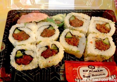 Spicy salmon roll at Sunshine Seasons, Epcot