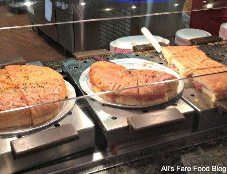 Hot sandwiches at Sunshine Seasons, the land