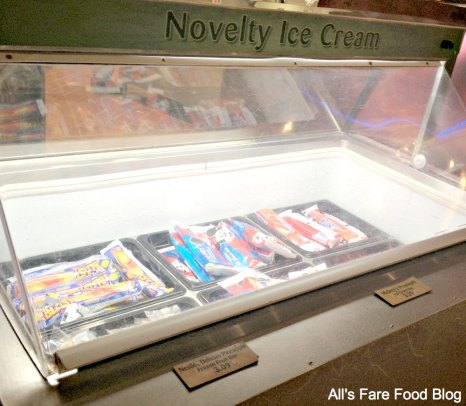 Ice cream freezer at Sunshine Seasons