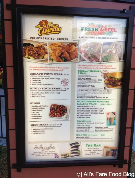 Menu at Pollo Campero and Fresh-A-Peel