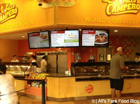Ordering at Pollo Campero at Downtown Disney