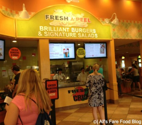 Ordering at Fresh-A-Peel at Downtown Disney