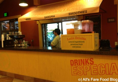Indoor bar for margaritas at Pollo Campero, Downtown Disney