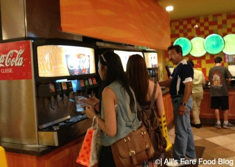 Soda stations at Pollo Campero, Downtown Disney