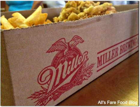 Wait, when did I get back to Milwaukee? Food served in Miller boxes