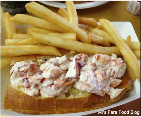 The famous lobster roll and french fries at Woodman's of Essex