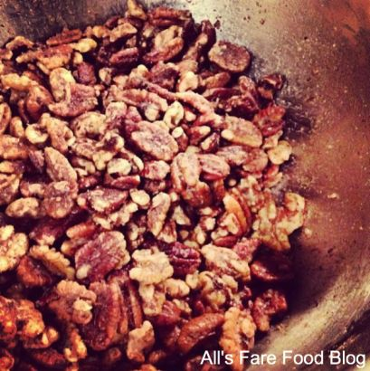 sugar roasted nuts in the crockpot