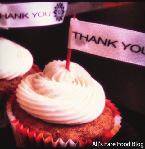 Thank you carrot cupcakes