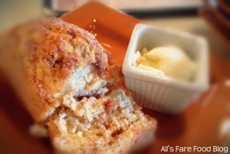 Cinnamon bread and butter at Sweet Clove