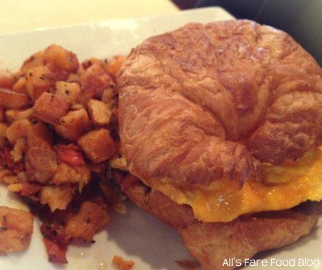Egg breakfast sandwich at Sweet Clove